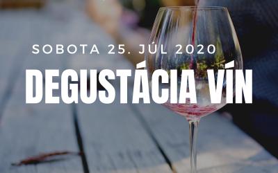 Degustácia vín 25.7.2020